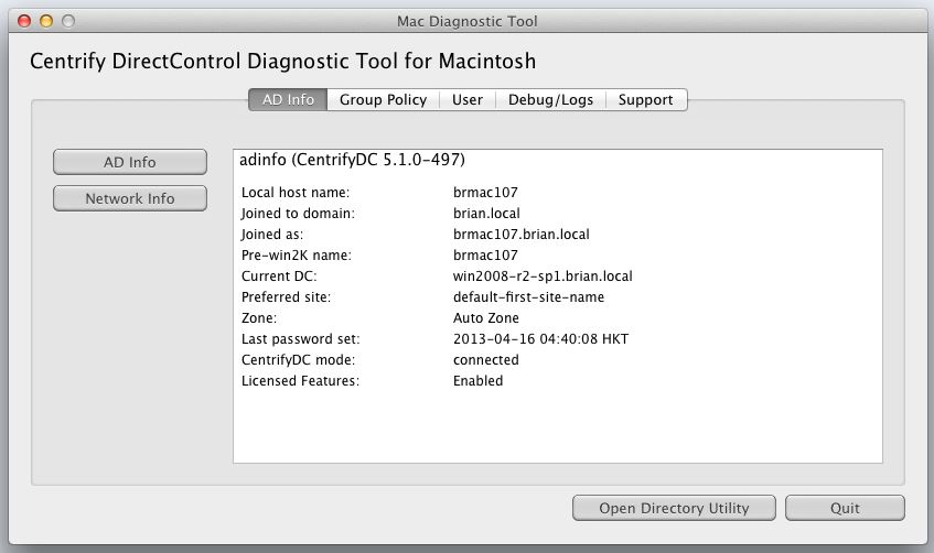 Introducing the New Mac Diagnostic Tool - Centrify Community